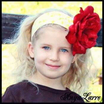 Apple Sass Reversible Rose Headband
