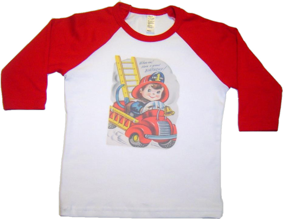 Lil' Fireman Birthday Shirt