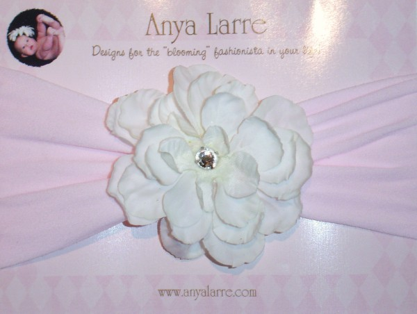 Infant White Phlox Headband