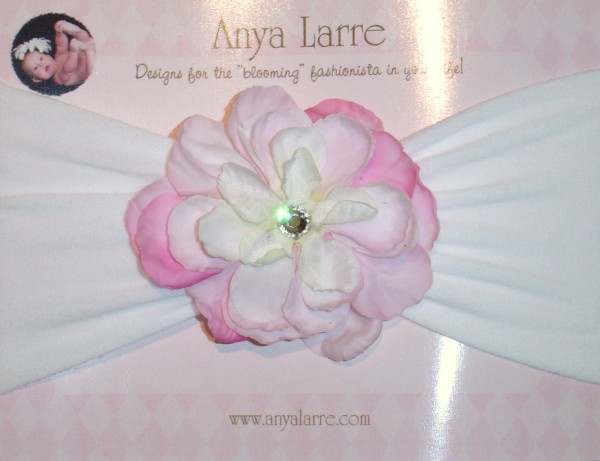Infant Pink Phlox Headband
