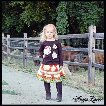 Apple Sass Apron Skirt and Tee Set