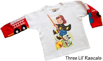 Vintage Fireman Knit Sleeve Tee