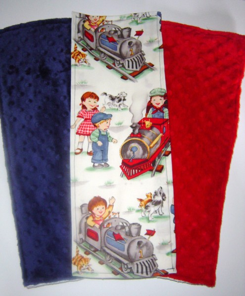 """All Aboard!"" Boutique Burp Cloth Set"