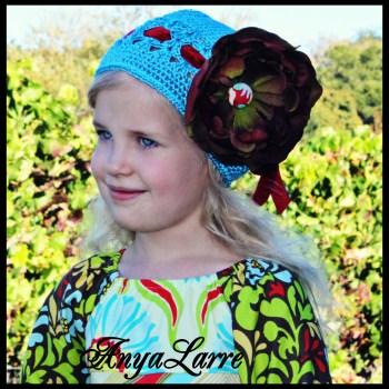 Apple Sass Crochet Flower Hat