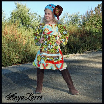 Apple Sass Peasant Dress