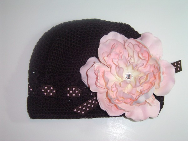 Neopolitan Crochet Ribbon Hat