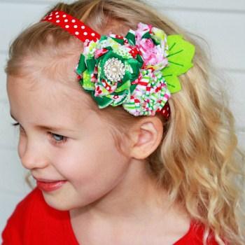 Candy Cane Twirl Headband