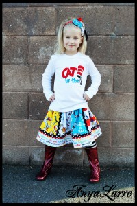 Cat in the Hat Tee and Skirt