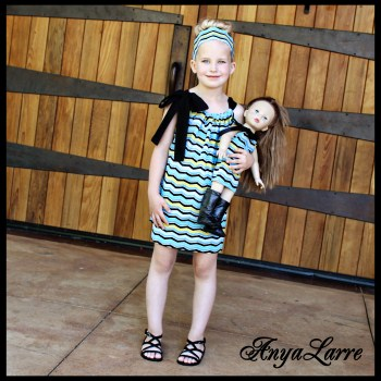 Chevron Shift Dress for Dolly