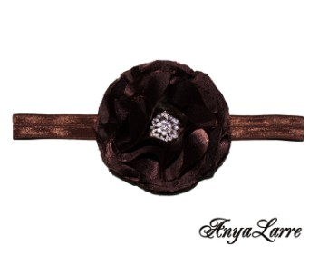 Shabby Chic Chocolate Rose Headband