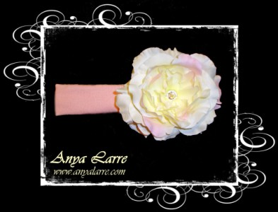 Pink and Cream Peony Headband