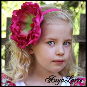 Hot Pink Peony Headband
