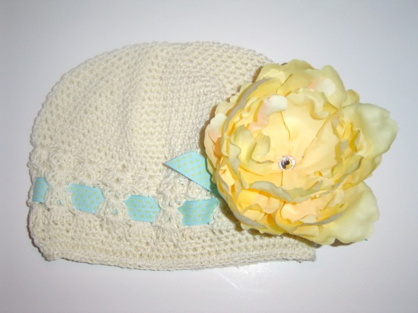 Lemonade Crochet Ribbon Hat
