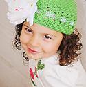Kiwi Lime Peony Crochet Hat