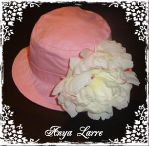 White Peony Pink Bucket Sunhat