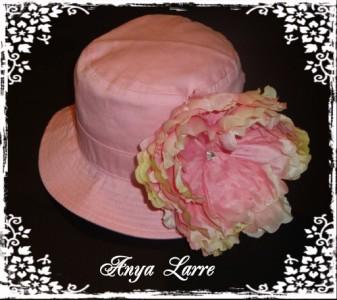 "Pink ""Luna"" Peony Bucket Sunhat"