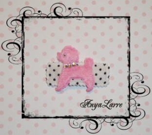 Pink Poodle Snap Clip