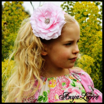 Pink Rose Bling Headband