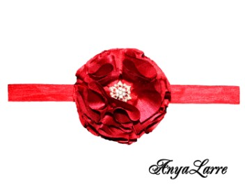 Shabby Chic Red Rose Headband