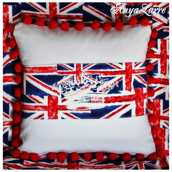 Her Majesty's Union Jack Toss Pillow