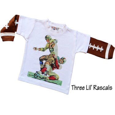 Vintage Football Knit Sleeve Tee
